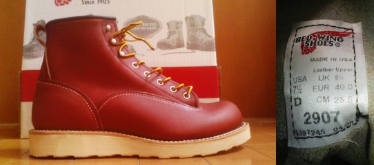 RED WING 2907 LINEMAN BOOTS新品